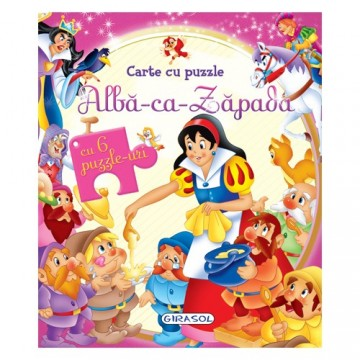 Carte cu Puzzle Alba Ca Zapada