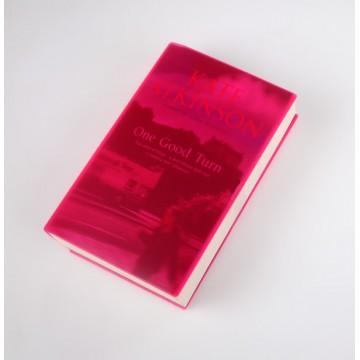 Coperta Roz transparent pentru carti
