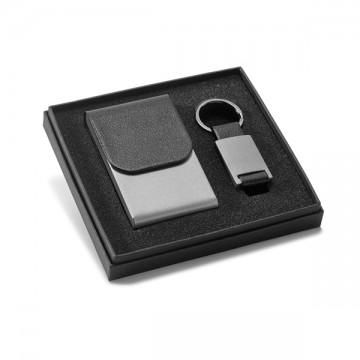 Suport carti de vizita si breloc set negru CDT-93313.03