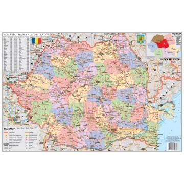 Harta administrativa a Romaniei mapa de birou