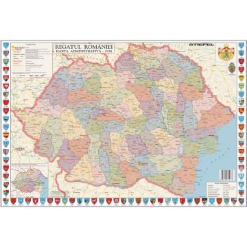 Harta Romania Interbelica mapa de birou