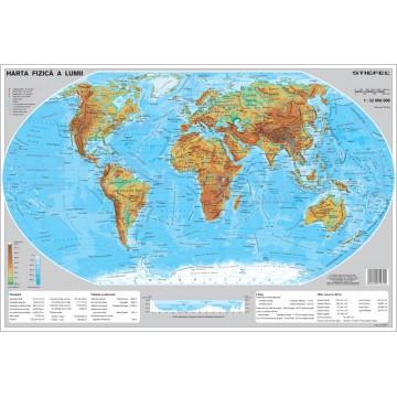 Harta fizica a Lumii mapa de birou