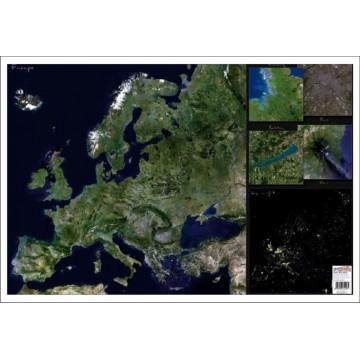 Harta Europei Imagine din satelit mapa de birou
