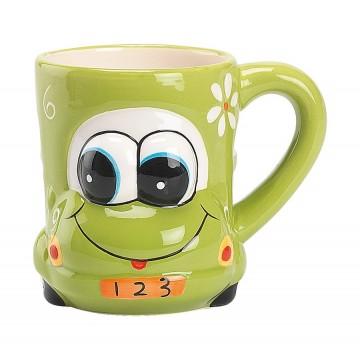 Cana ceramica amuzanta verde