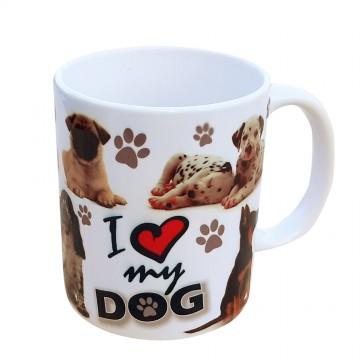 Cana ceramica I love my dog