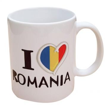 Cana ceramica I love Romania
