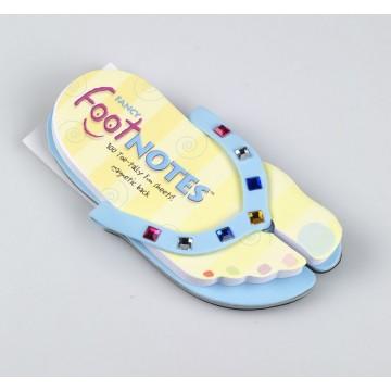 Carnetel in forma de papuc de plaja Albastru cu bijuterii colorate