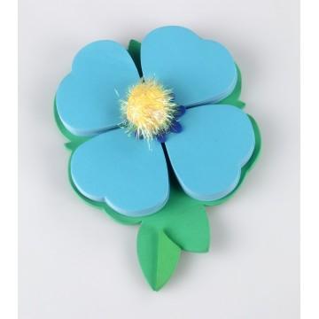 Biletele adezive Petale albastre