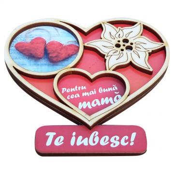 Magnet inimioara pentru cea mai buna mama