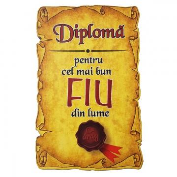 Magnet Diploma pentru Cel mai bun FIU din lume, lemn