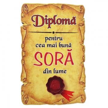 Magnet Diploma pentru Cea mai buna SORA din lume, lemn