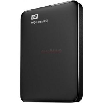 HDD Extern Western Digital Elements, 2TB, 2.5inch, USB 3.0 si USB 2.0