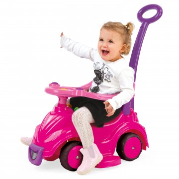 Masinuta fara pedale 4 in 1 Dolu Smile Car, Roz