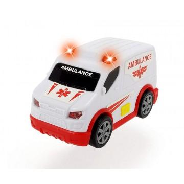 Masinuta de salvare Dickie Toys cu sunete si lumini