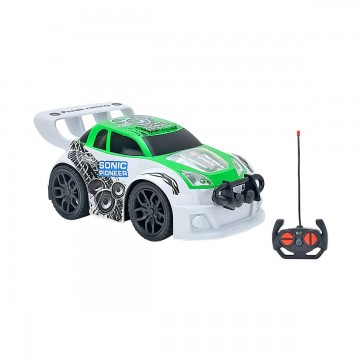 Masinuta cu telecomanda Racing Globo, 1:20, Alb-Verde
