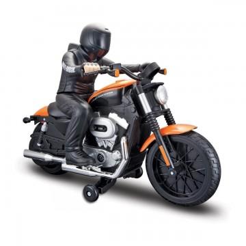 Motocicleta cu telecomanda Maisto Harley-Davidson Nightster XL 1200N-Portocaliu