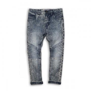 Jeans baieti cu tiv intors si cusatura pe genunchi, Minoti Bugs