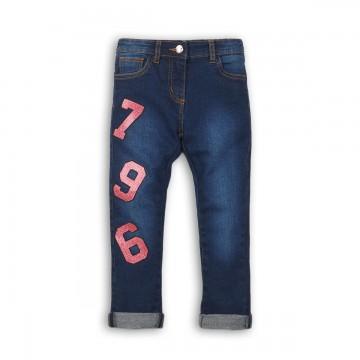 Pantaloni denim cu aplicatie de paiete Minoti
