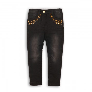 Pantaloni denim cu detaliu metalic la buzunare Minoti
