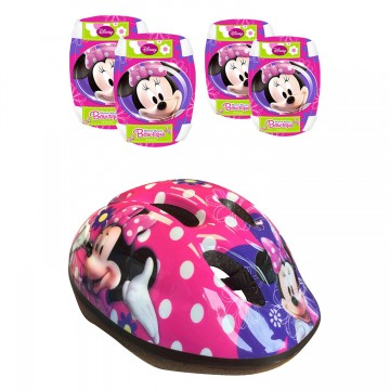 Set de protectie si casca Minnie Mouse 863506