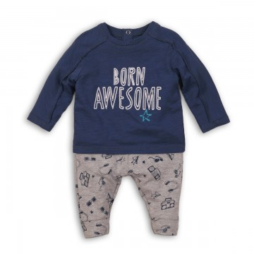 Set bluza si pantaloni bebe Minoti Awesome