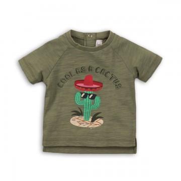 Tricou cu imprimeu Minoti Cactus, Verde