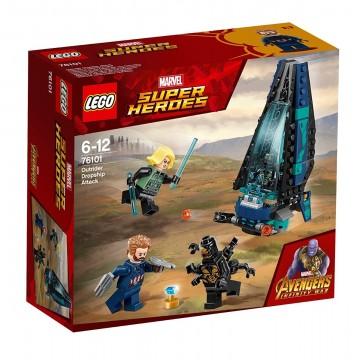 LEGO® Marvel Super Heroes - Atacul transportorului de trupe Outrider (76101)