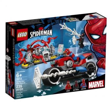 LEGO® Marvel Super Heroes -Salvarea cu motocicleta a lui Spider-Man (76113)