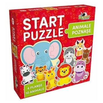 Start Puzzle 4 in 1 - Animalute poznase, 25 piese