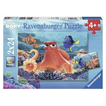 Puzzle 2 in 1 - Finding Dory, 48 piese