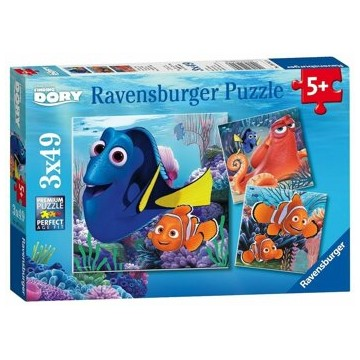 Puzzle 3 in 1 - Finding Dory, 147 piese