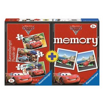 Set Disney Cars - Joc Memory si Puzzle 3 in 1, 60 piese