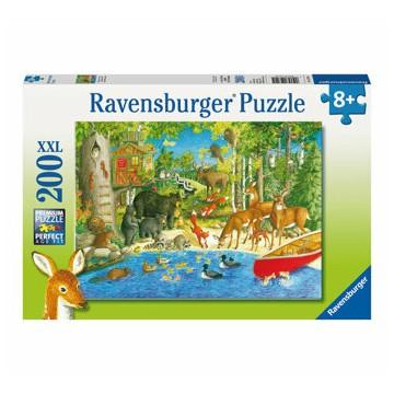 Puzzle Animale in padure, 200 piese