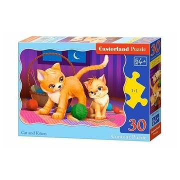 Puzzle Pisica si pisicuta, 30 piese
