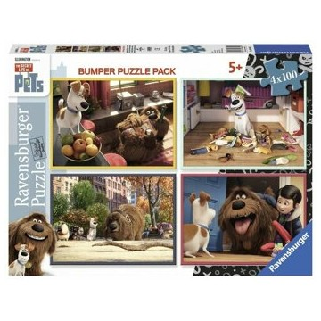 Puzzle 4 in 1 - The Secret Life of Pets, 400 piese