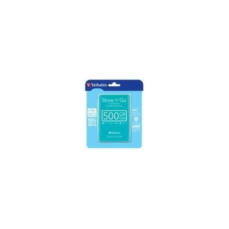 HDD Extern Verbatim Store'n'Go, 500GB, USB 3.0 (Verde Silvertree)